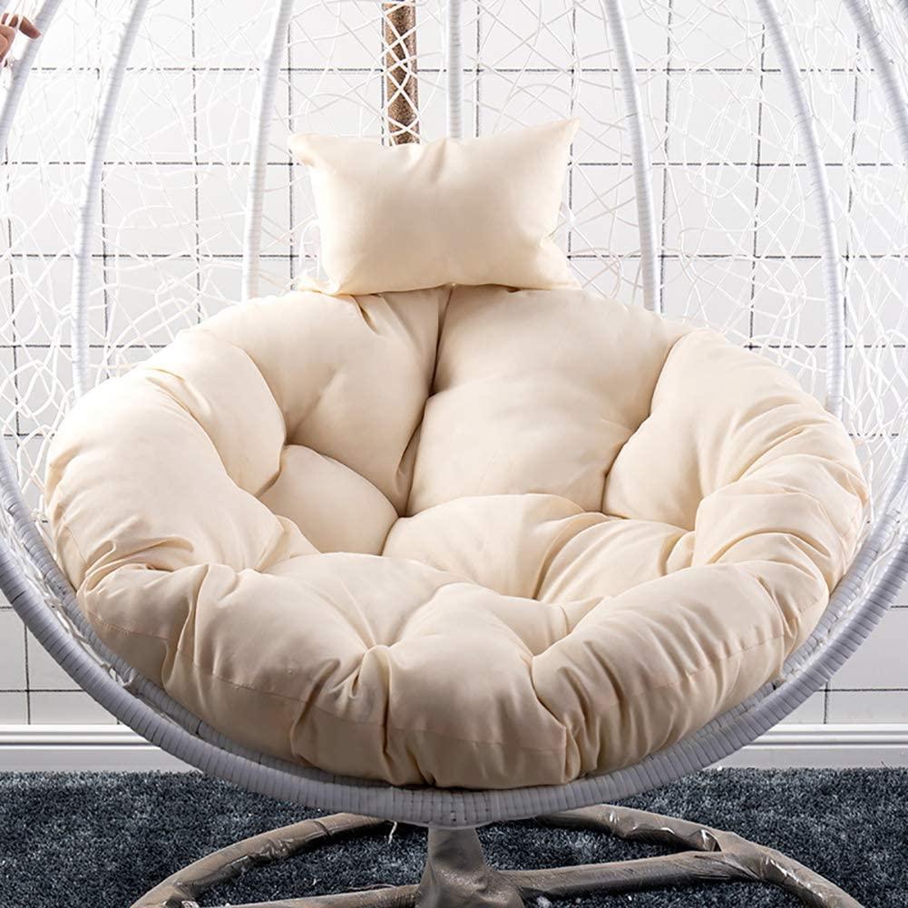 TOPYL Papasan Chair Cushion,Round Egg Nest Chair Cushion,Not Slip Rocking Chair Pad Washable,Basket Cushion Wicker Rattan Swing Pads 1 Diameter120cm(47inch)