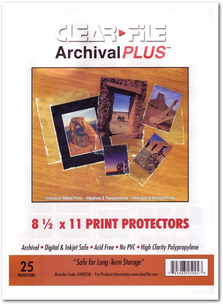 Archival Plus Print Bags 8.5X11 Pkg 25