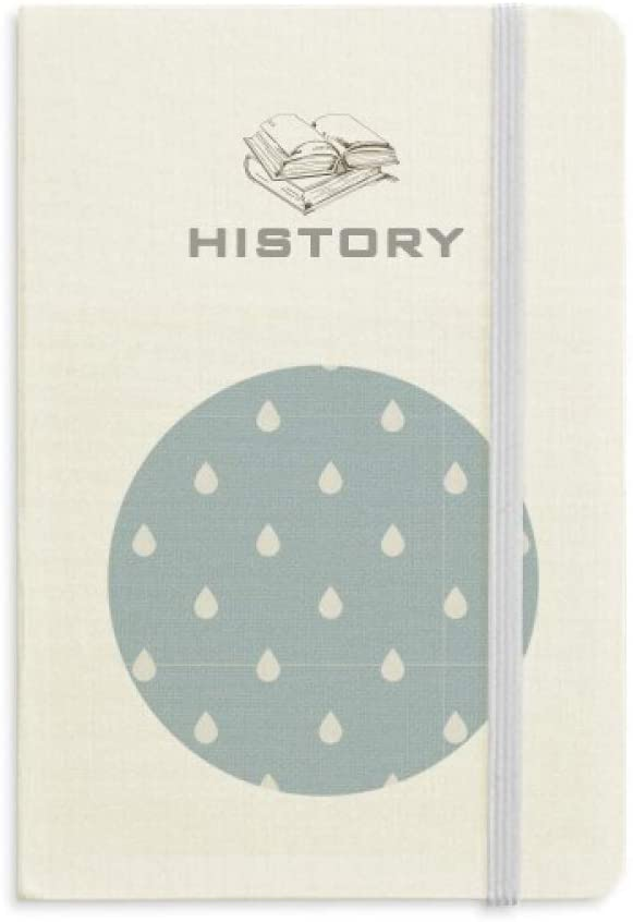 Rain Drip Weather Cloud Pattern History Notebook Classic Journal Diary A5