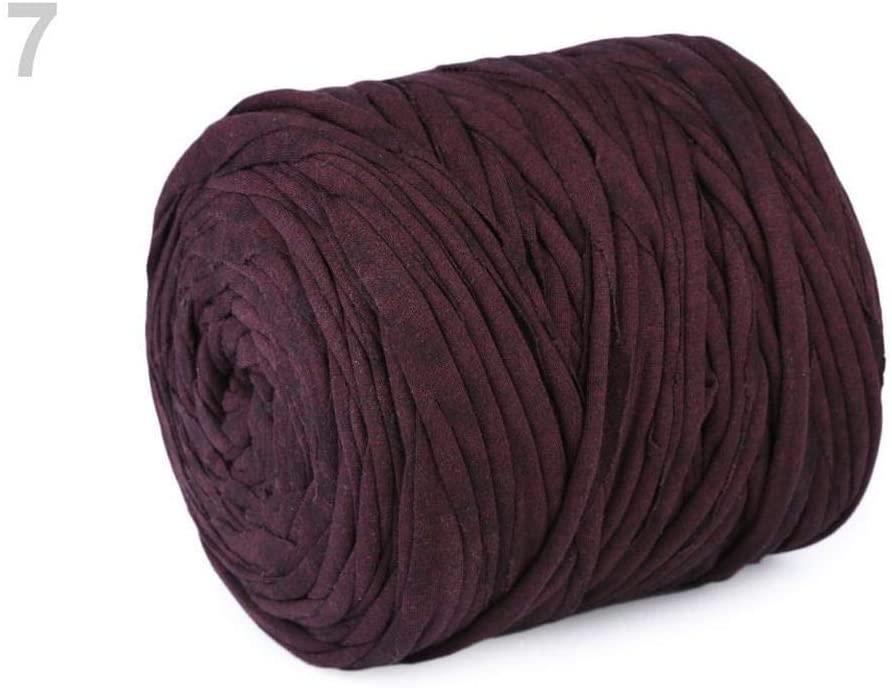1pc 7 (12) Bordeaux T-Shirt/Spaghetti Yarn 700g, Knitting & Crochet, Haberdashery