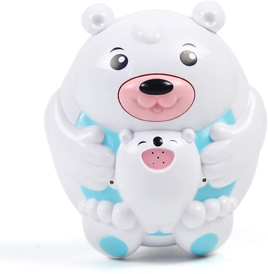 BOLUOYI Bath Spout Cover Bath Toys for Boys and Girls - Water Spray Bear Set for Toddlers & Kids - Fun (Shipped from The US) (White)