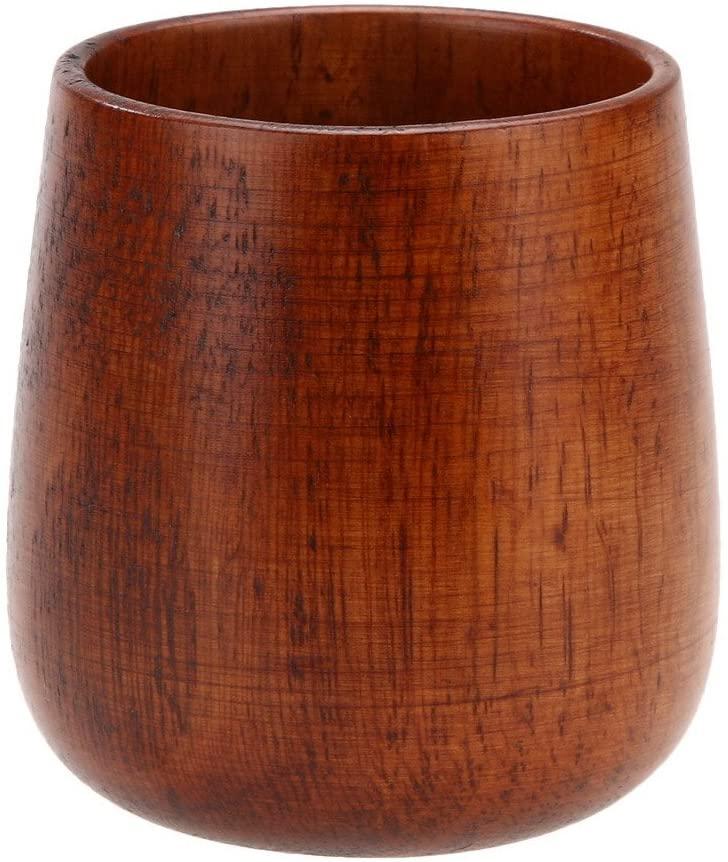 WinnerEco Primitive Handmade Wooden Drinking Cup Coffee Mug Tea Cup Breakfast Beer Milk (B)