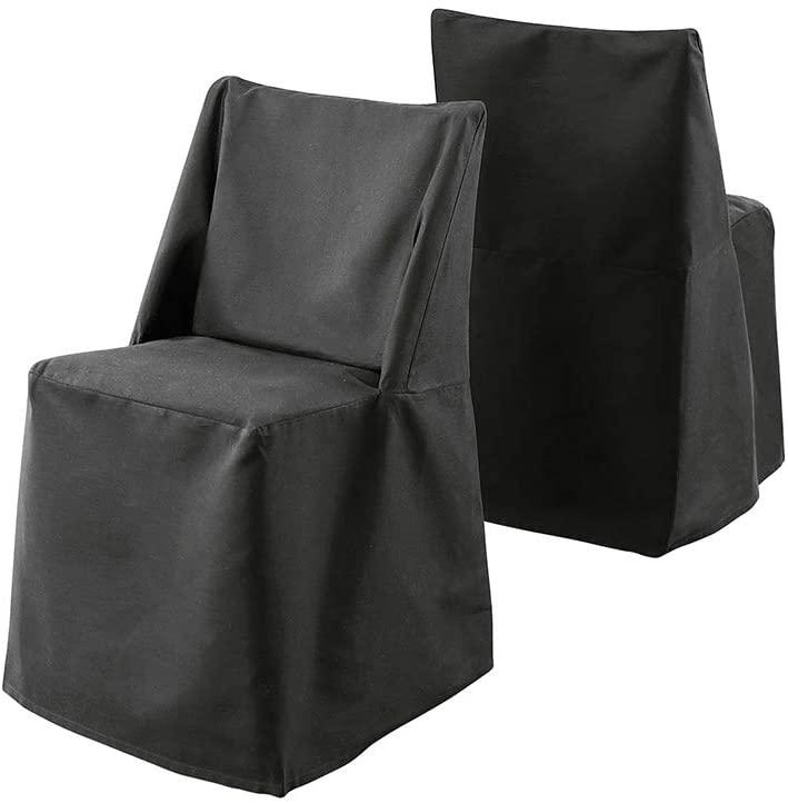 SureFit Duck Solid - Folding Chair Slipcover - Rich Black
