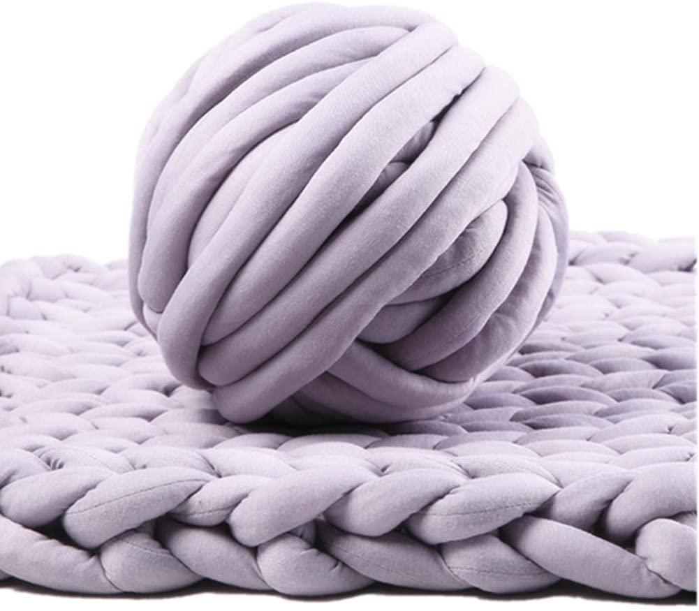 Chunky Thick Yarn for Arm Knitting Crocheting, 53oz Cozy Cotton Tube Yarn, Bulky Home Décor Project Yarn for Chunky Throw Blankets (Grey, 53 oz / 203ft)