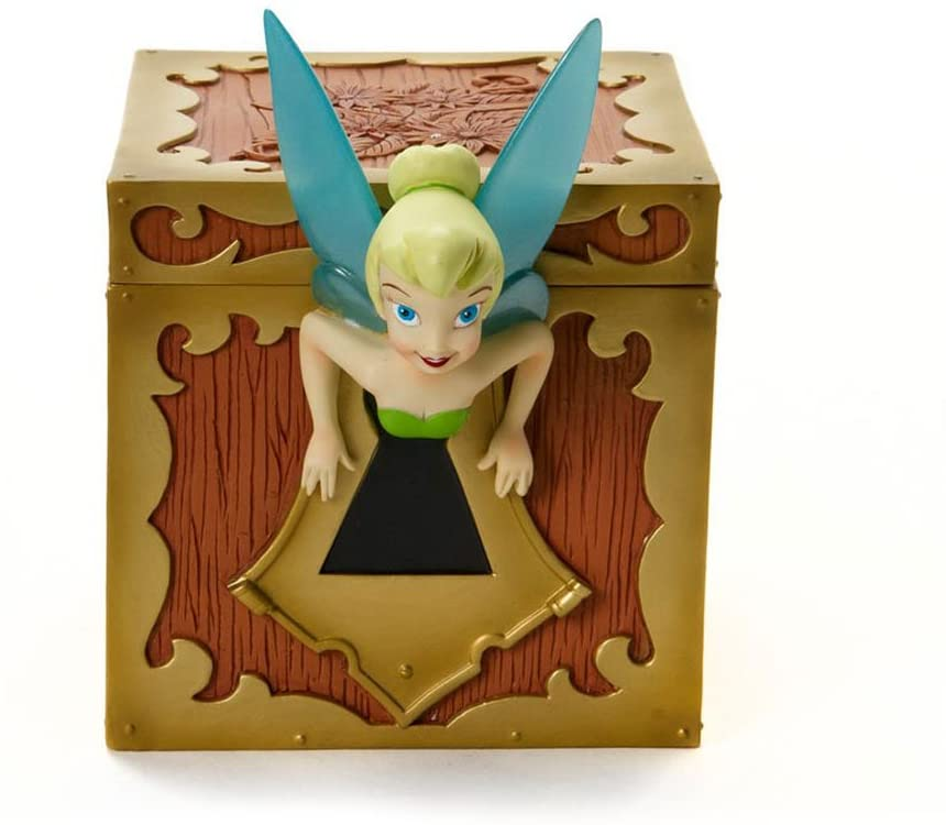 Enesco Disney Showcase Collection Tinkerbell Lidded Treasure Box, 5-1/4-Inch