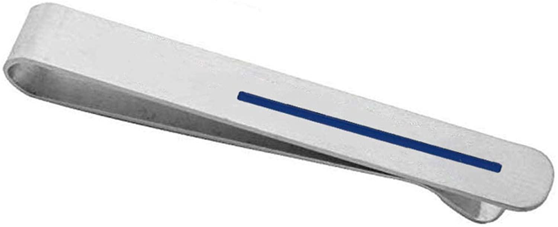 KUIYAI Thin Blue Tie Clip Police Tie Clip Police Officer Gift
