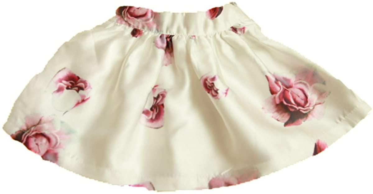 Floral Pink Girls Skirt (15 (8Y)) BSP0044