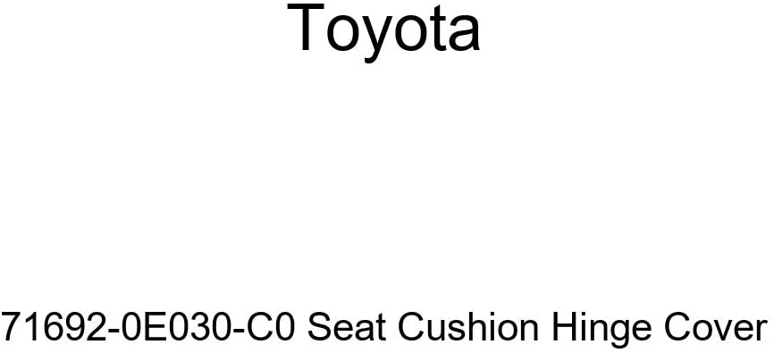TOYOTA Genuine 71692-0E030-C0 Seat Cushion Hinge Cover