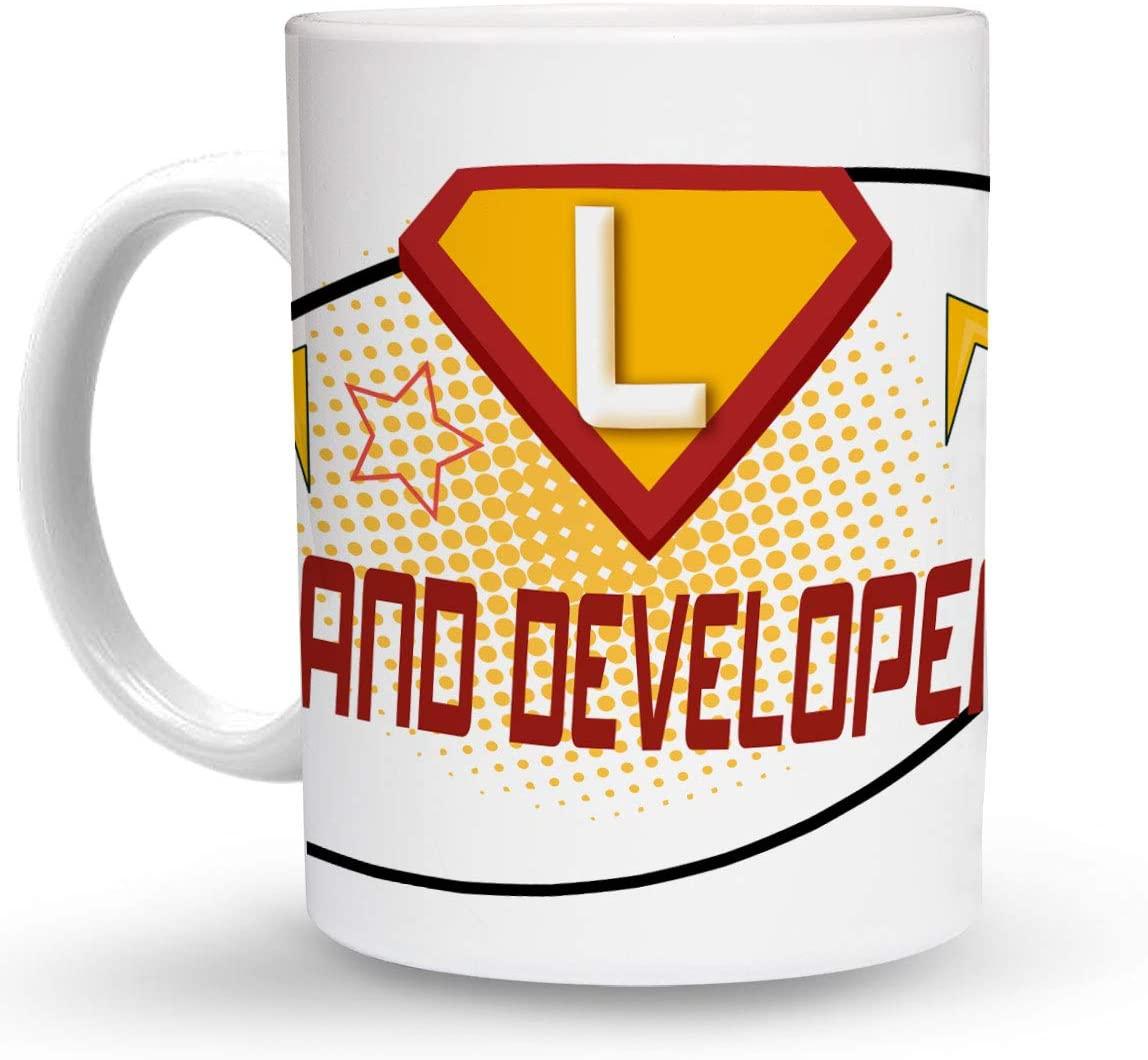 Makoroni - LAND DEVELOPER Career 6 oz Ceramic Espresso Shot Mug/Cup Design#78