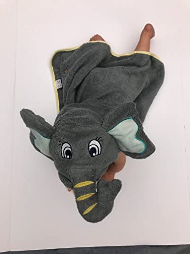 Kakkle Elephant Baby Hooded Towel Adorable Elephant Extra Thick Towel and Ultra Absorbent Towel Large Size