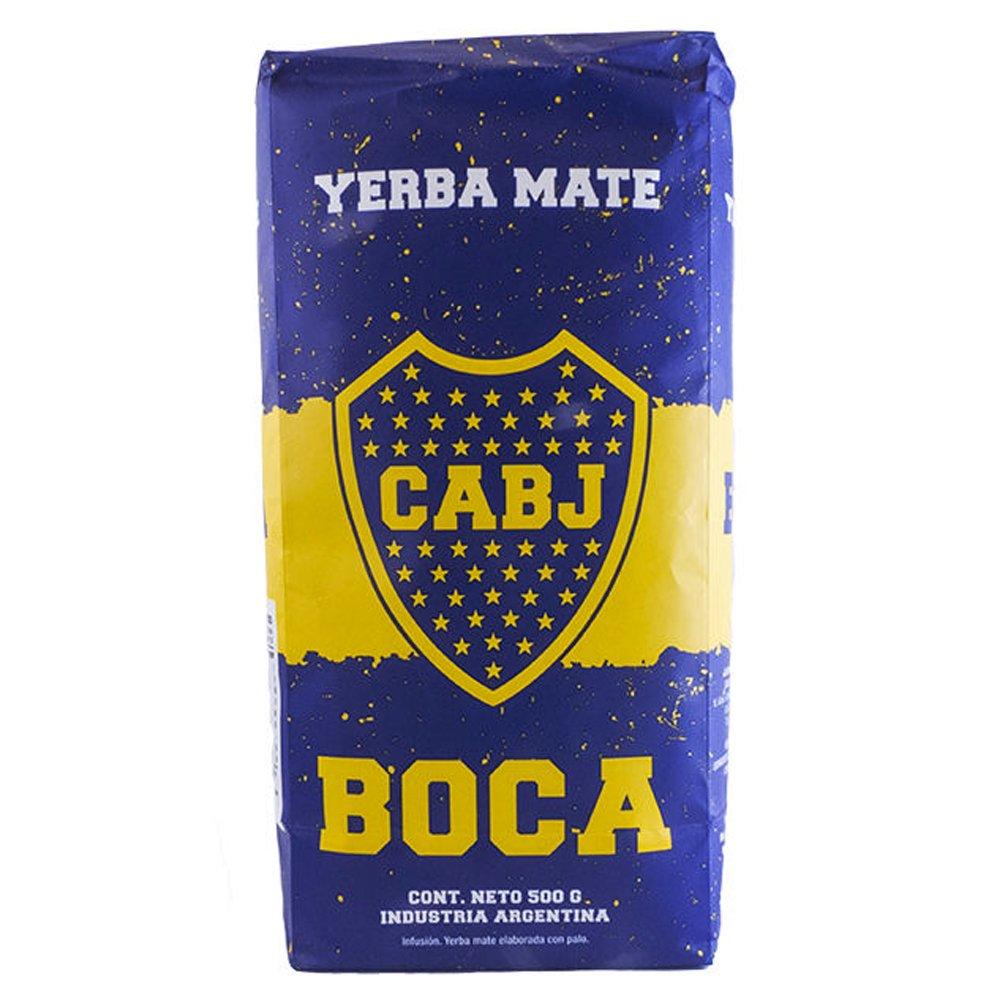 Yerba Mate con Palo Cachamate 500gr Argentina Boca Juniors Loose Leaf Tea 1.1 lb