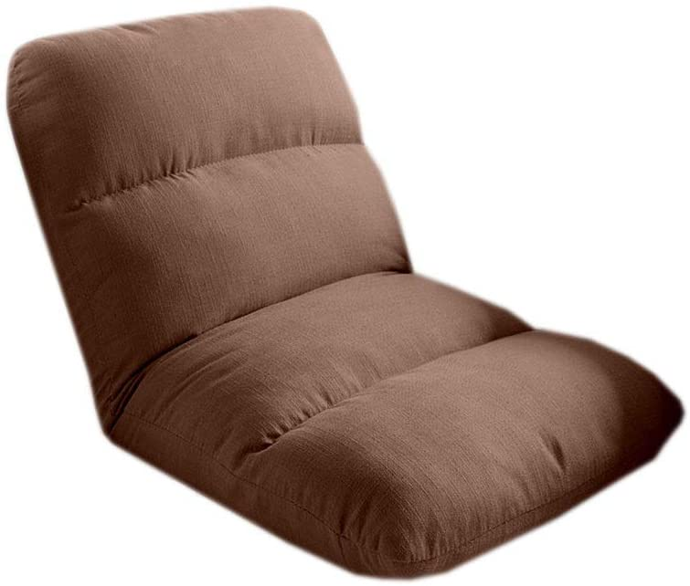 HELLEN Cushioned Floor Gaming Sofa Adjustable Folding Lazy Recliner for Adults & Kids Sleeper Lounge Features, Brown Z-2020-7-2