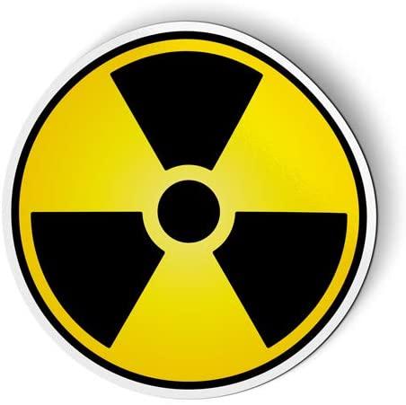 Nuclear Danger Circle Radiation - Flexible Magnet for Fridge, Locker - 3