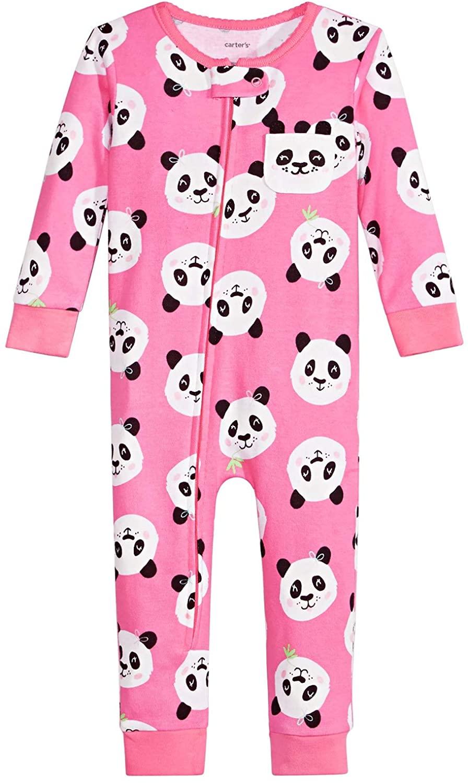 Carter's Baby Girls Cotton Panda Pajamas Pink Multi