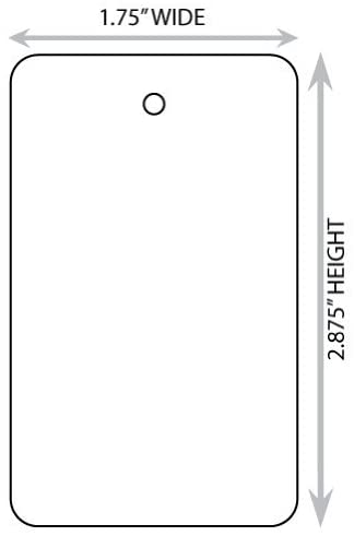 Large (1.75 X 2.875) White Blank Merchandise Tag. Case of 2,000 Tags.