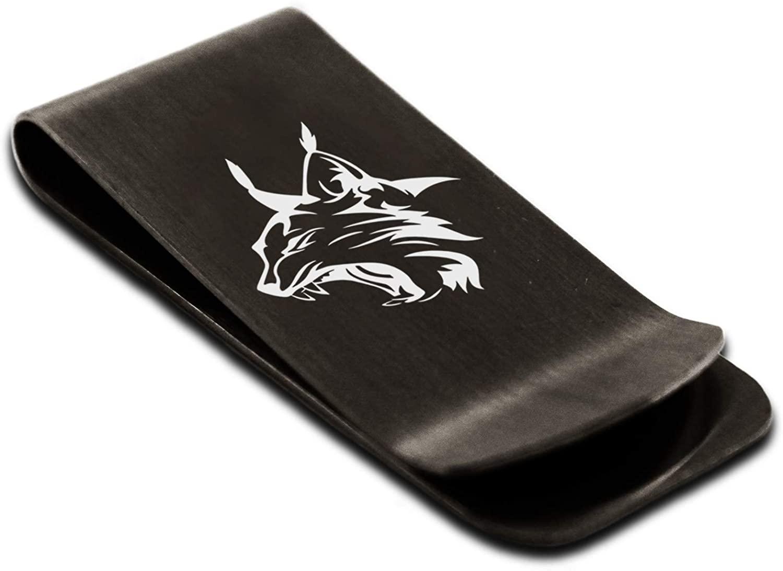 Stainless Steel Lynx Money Clip Credit Card Holder