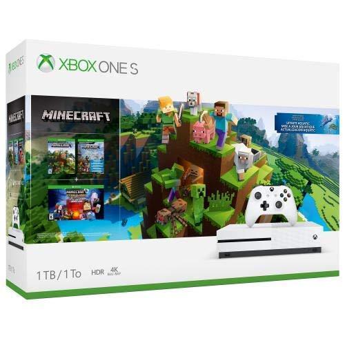 Xbox One S 1TB Console – Minecraft Bundle (Renewed)