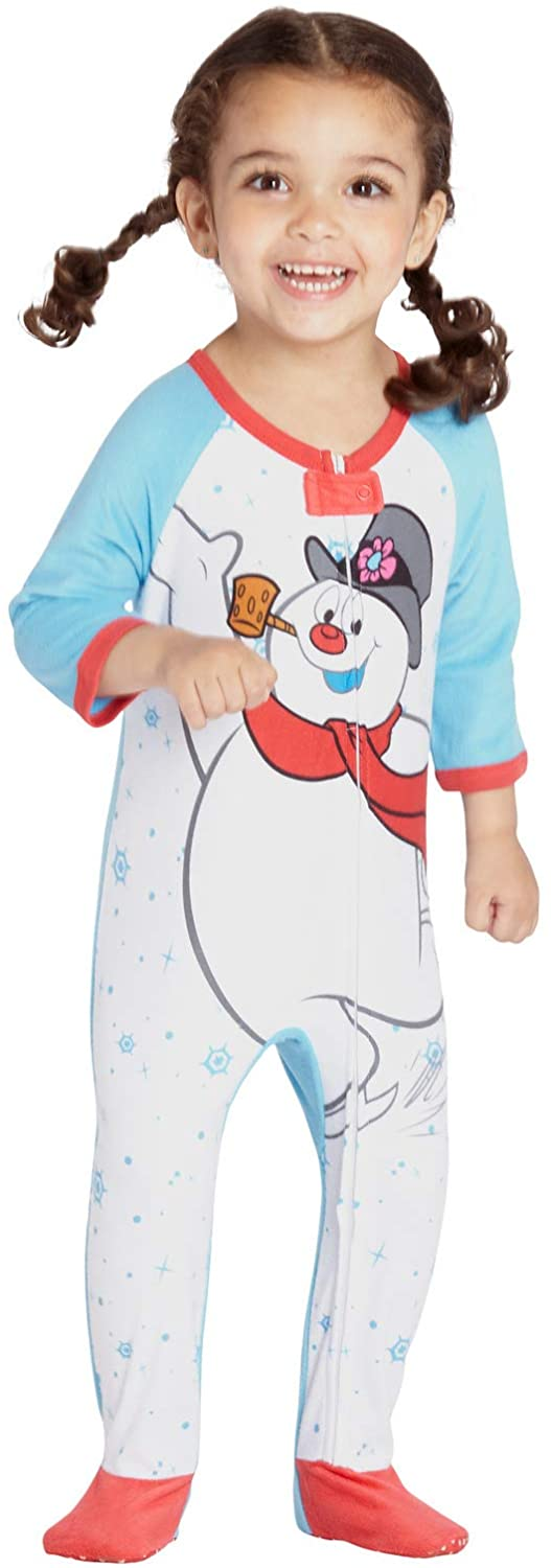 Frosty the Snowman Infant 'Frosty the Snowman Skates' Onesie Footie Sleeper
