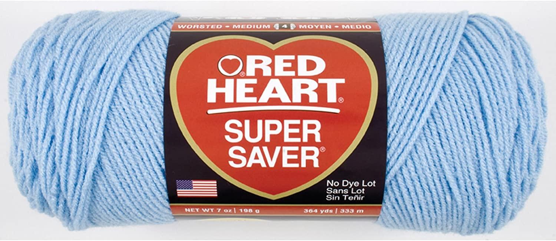 Red Heart Super Saver Yarn Light Blue