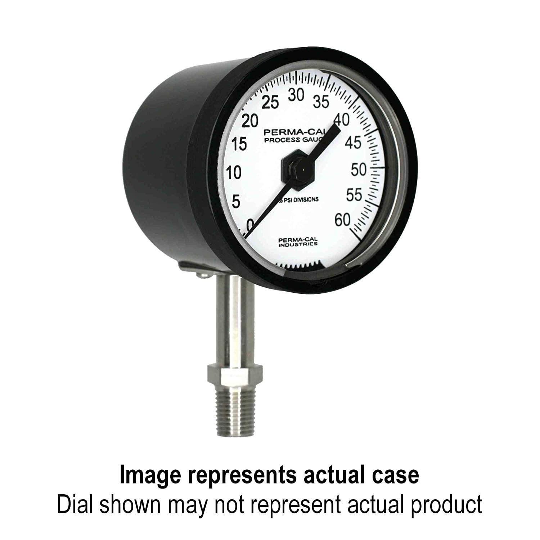 Compound Gauge, Gearless, Test, 30inHg-0-200 psi, 2.5