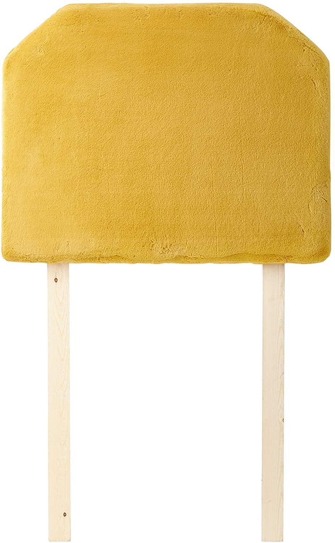 Mo' Bunny Love College Headboard with Legs - Plush Chunky Mustard