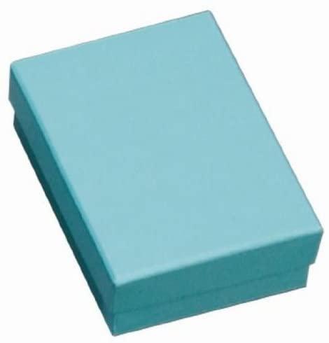 100 Light Blue Cotton Filled Boxes 3.25