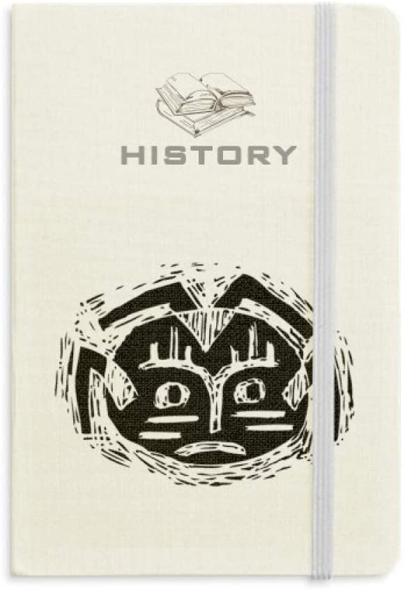 Scary Circle Black Indian Totem History Notebook Classic Journal Diary A5