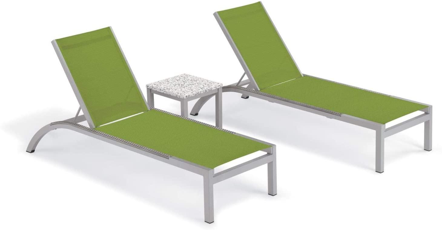 Oxford Garden 5684 Argento & Travira Furniture Set, Powder Coat Flint