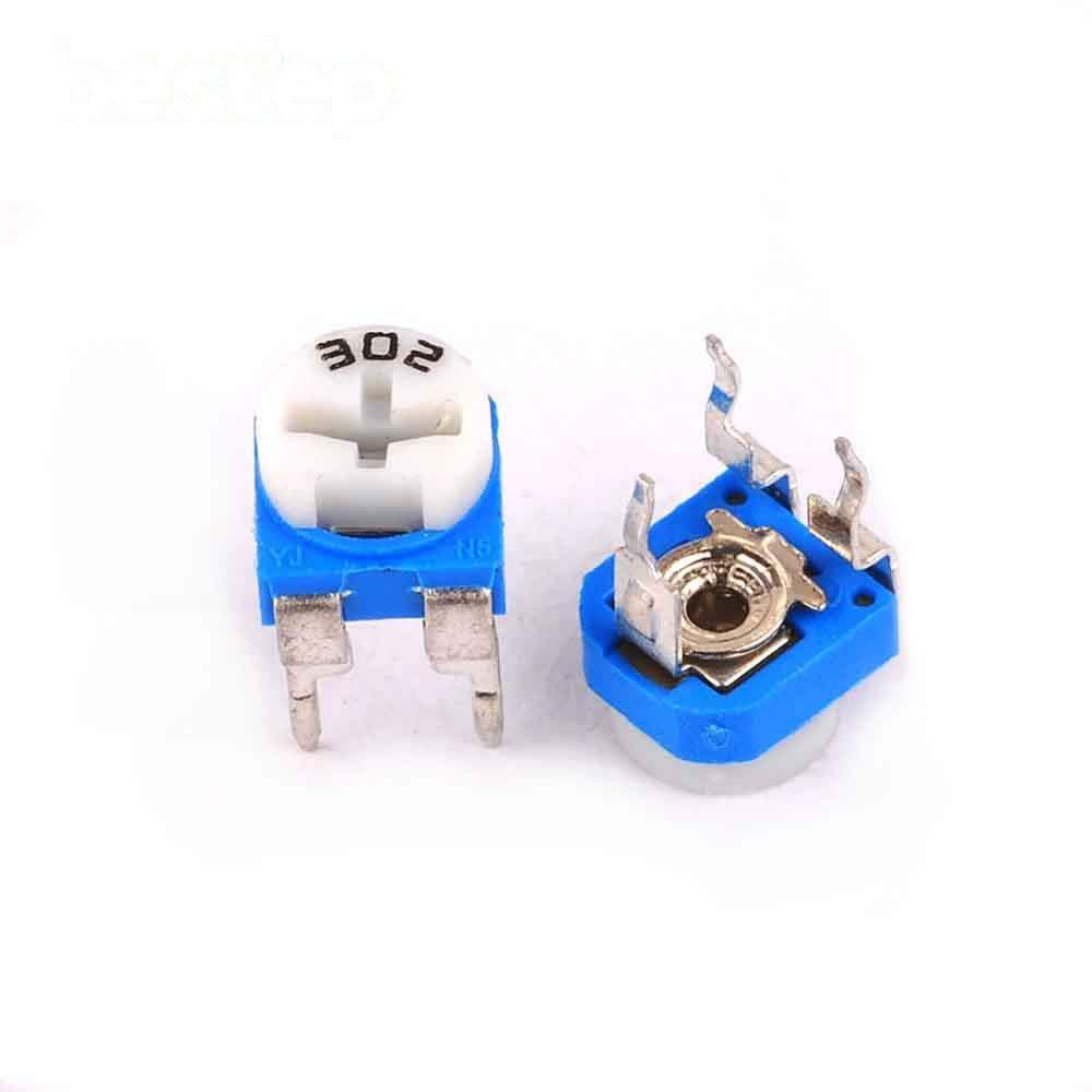 50PCS Trimmer Potentiometer RM-065 3Kohm 302 3K Trimmer Resistors Variable Adjustable Resistors
