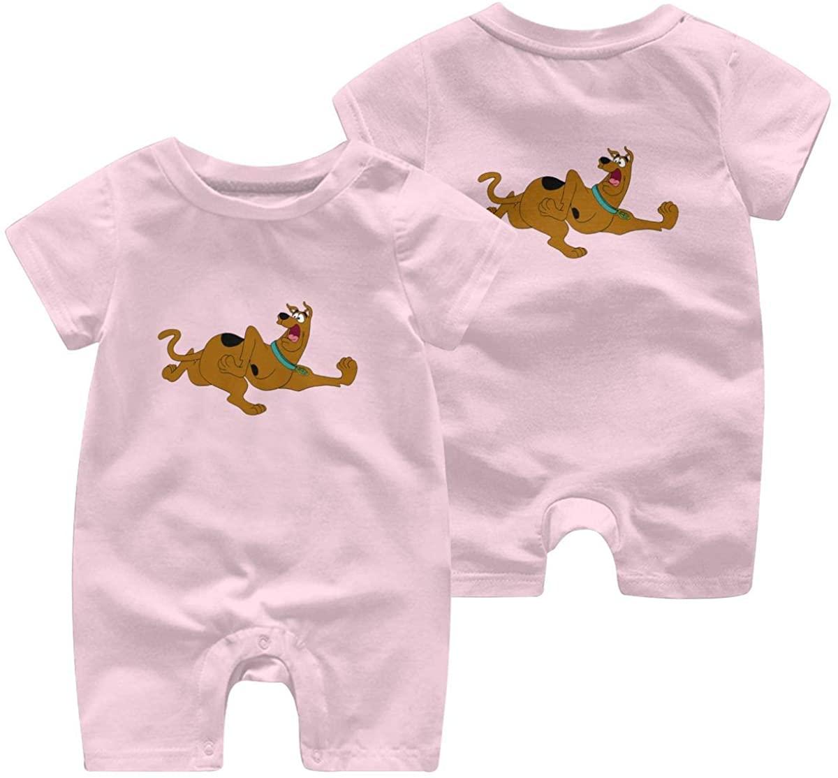 Scooby-Doo-Dog Leisure Baby Short Sleeve Jumpsuit Kid Breathable Baby Pajama Sleeper Cotton Romper