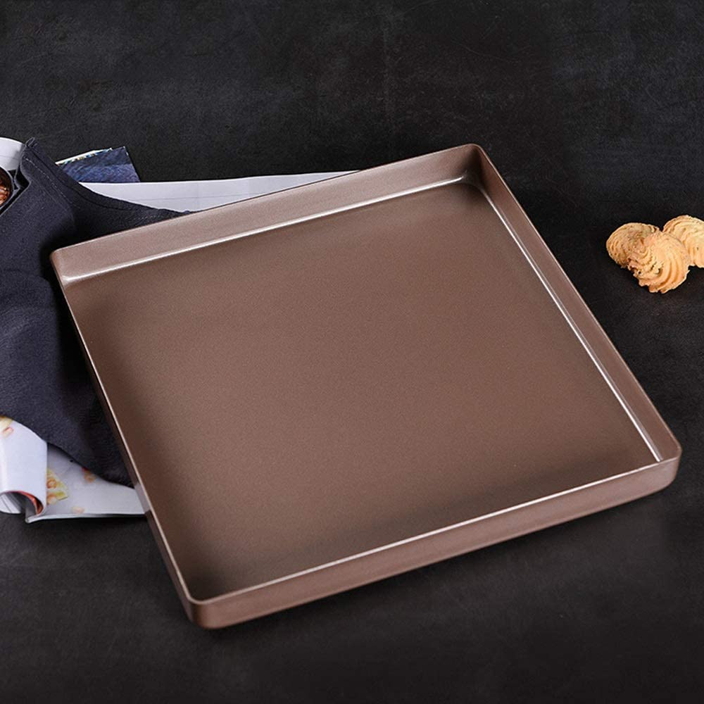 Waitousanqi Home Baking Baking Pan, Square Non-sticky Edge Thickening High Temperature Oven Baking Pan, Used For Cake Bread Pizza Biscuits Mooncakes, Etc.