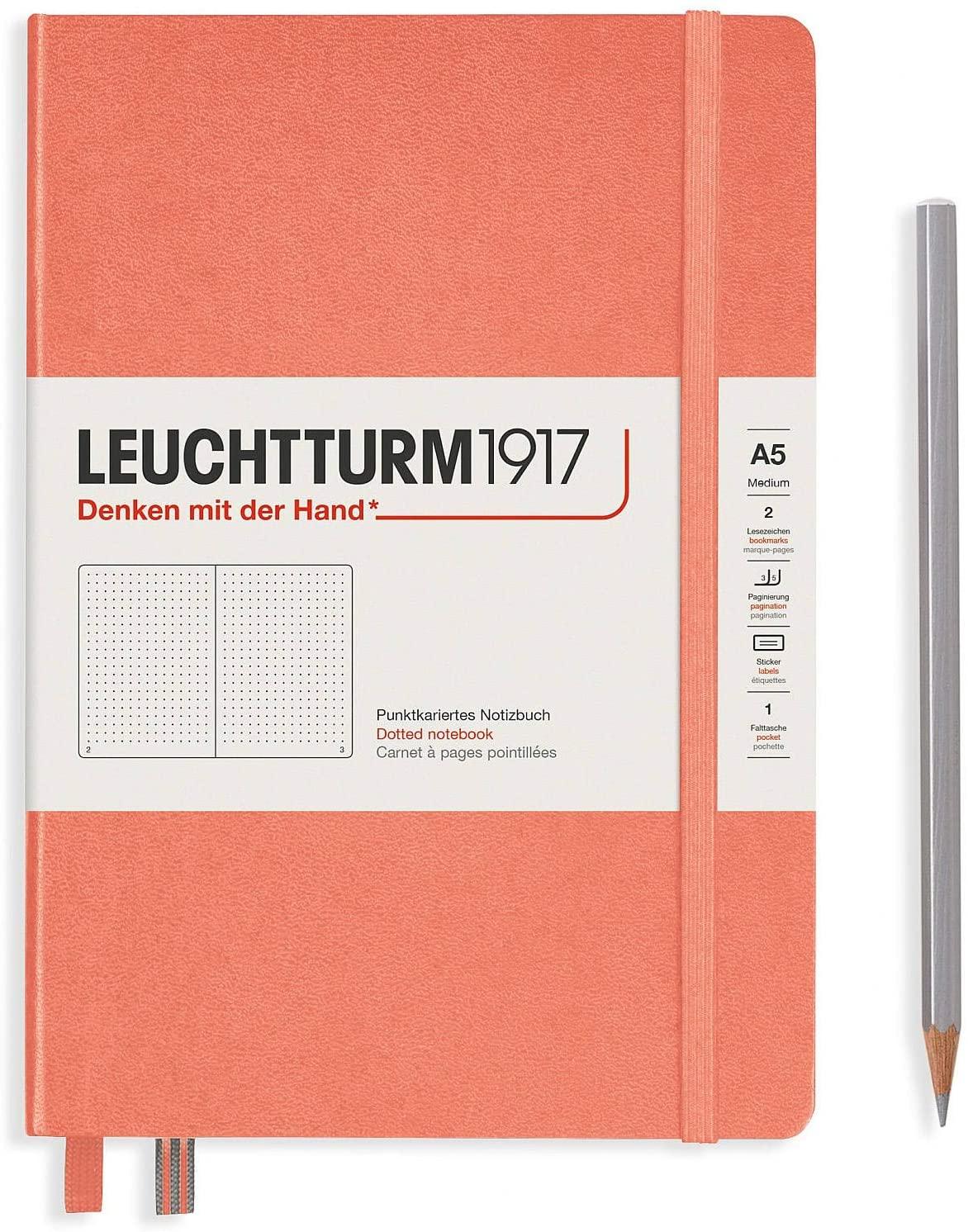 Leuchtturm1917 Notebooks Hardcover Medium (A5) Bellini, Medium, 251 p, dotted