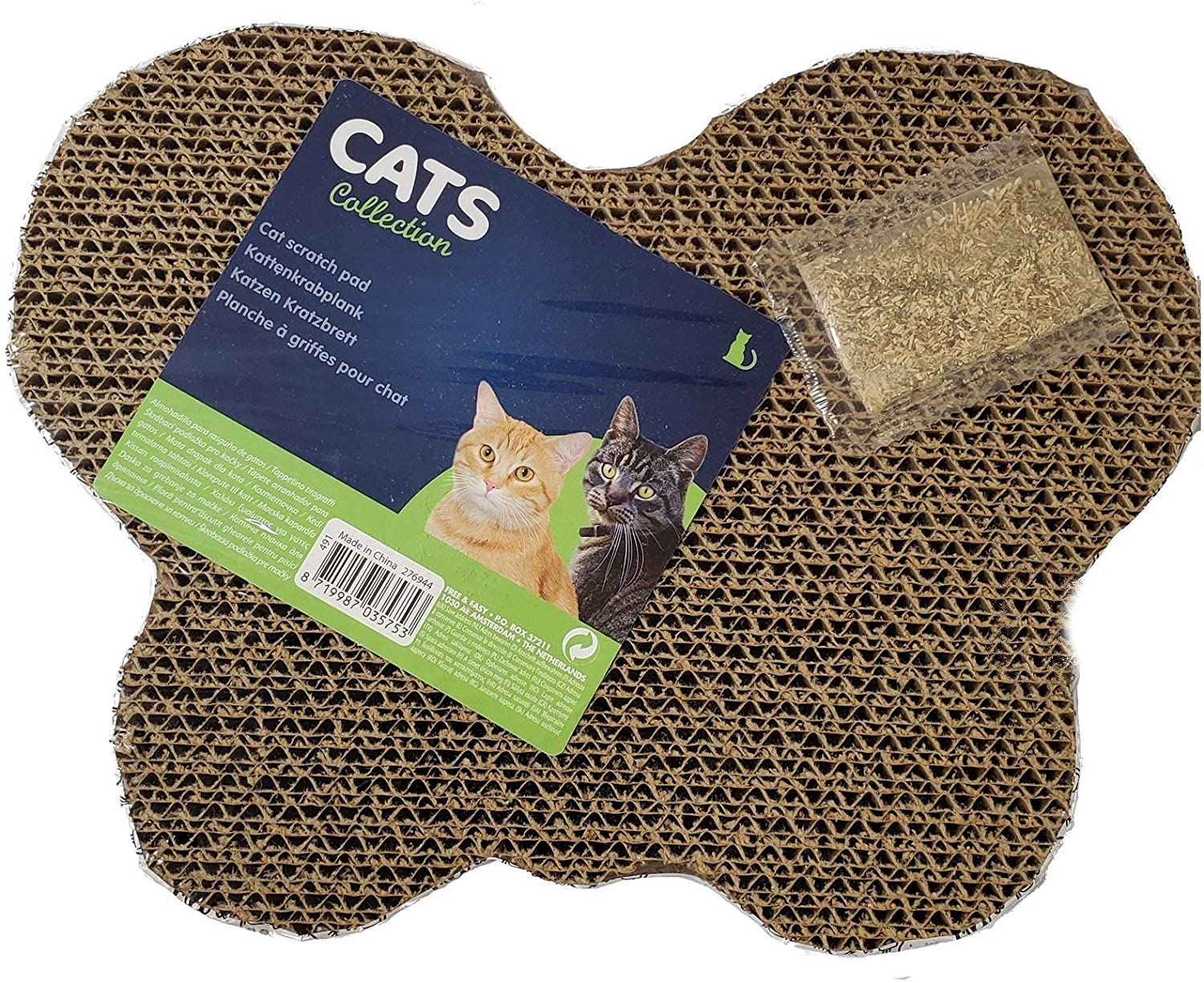Home and Holiday Shops Butterfly Corrugated Cardboard Scratch Pad Cat Scratching Toy New