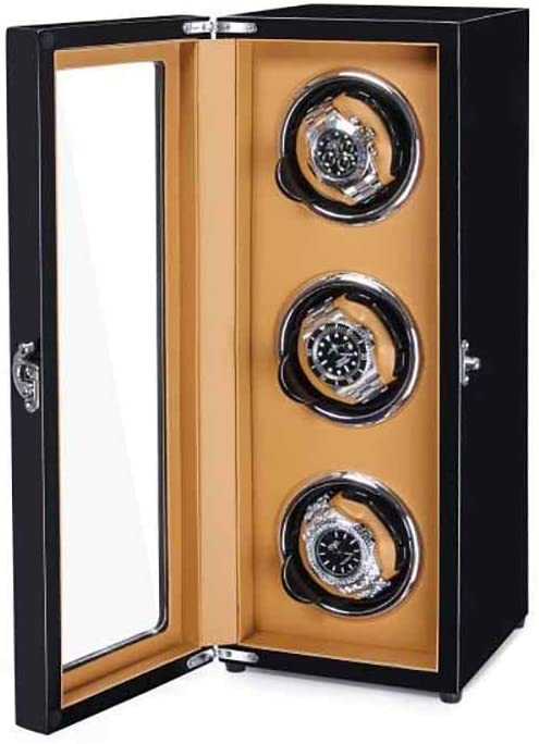 Watch Winder, Home Simple Storage Mechanical Watch Automatic Winding Watch Box, Anti-Magnetic Swaying Watch Box Quiet (Size : 3)