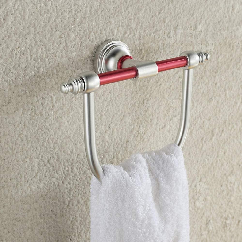 CBXSF Bathroom Accessories Space Aluminum Towel Rack Hanging Towel Rack Bath Towel Ring