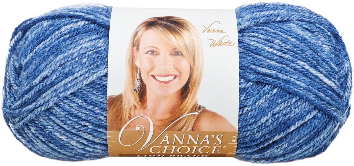 Lion Brand Yarn 860-300E Vanna's Choice Yarn, Denim Mist