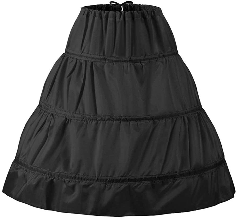 XinLe Girls' 3 Hoops Petticoat Underskirt Flower Girl Wedding Crinoline Skirt Slip Length 55cm/65cm/75cm/85cm