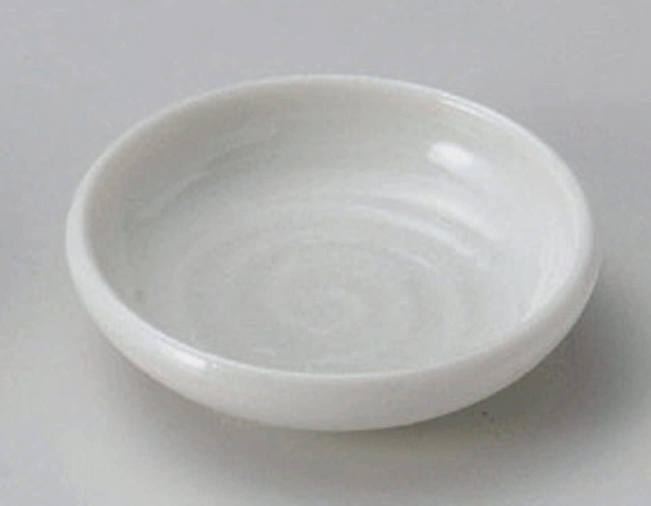 WHITE-GLAZE-UZU Jiki Japanese Porcelain Small Plate