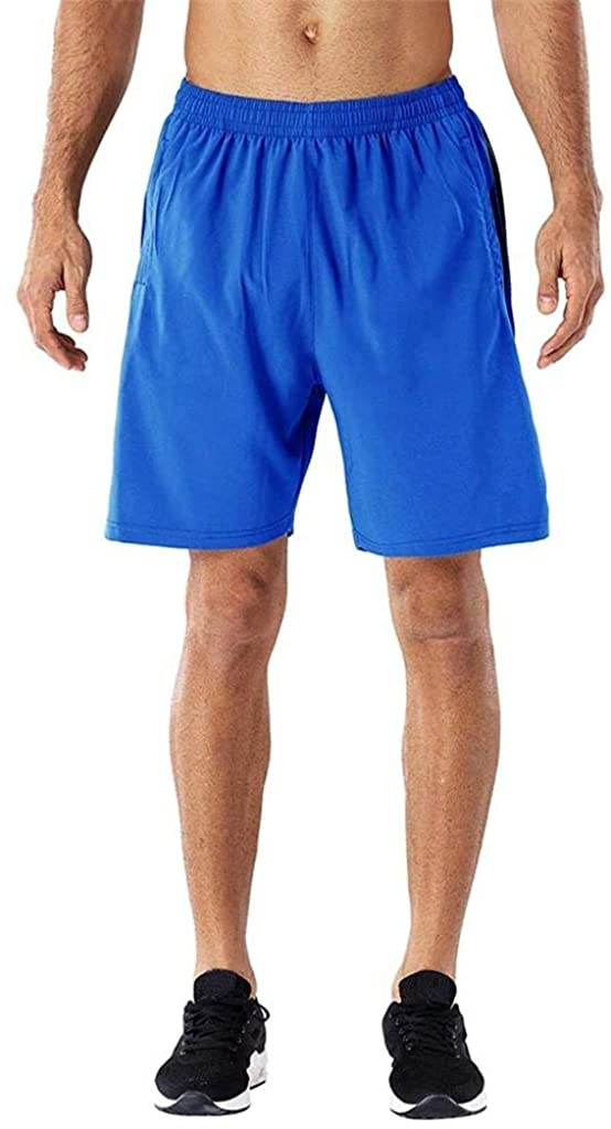 terbklf Men Summer Sports Quick-Drying Shorts with Zip Pockets Running Short Pants