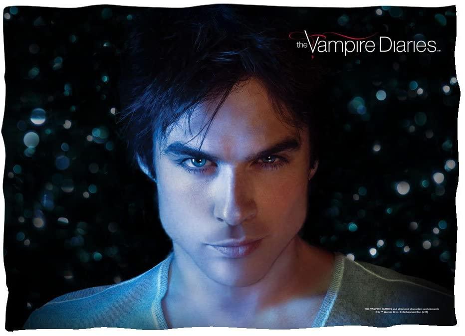 C&W Damon Close-Up - The Vampire Diaries - Pillow Case
