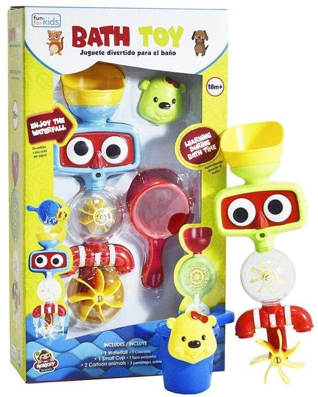 MONKEY Brands Fun for Kids - Waterfall Bath Toy - Preschool