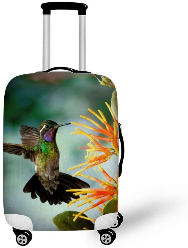 Hummingbird Fashionable Baggage Suitcase Protector Travel Luggage Cover Anti-Scratch
