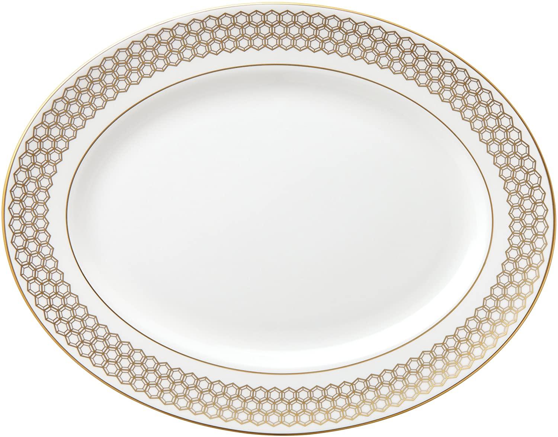 Lenox Prismatic Gold Oval Platter, 13