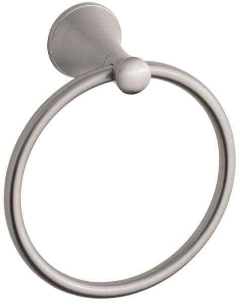 Coralais Towel Ring in Brushed Nickel