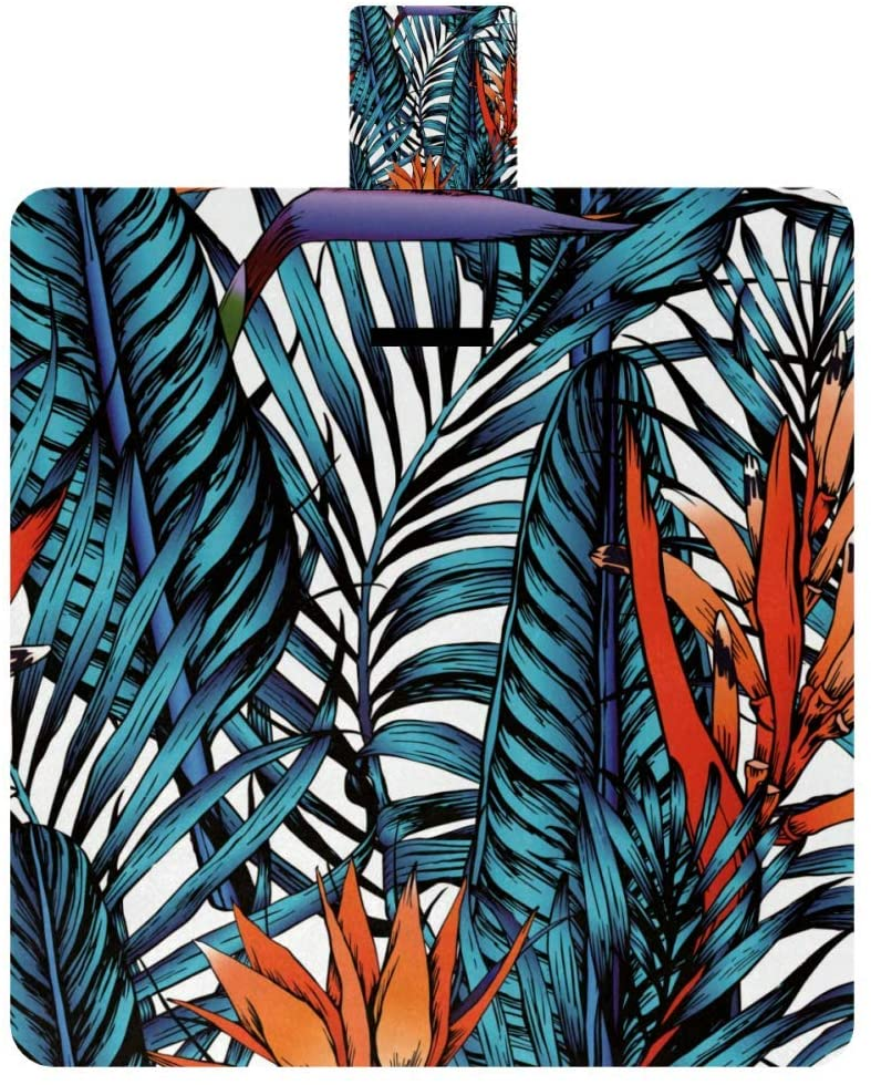 MAPOLO Palm Leaves Picnic Blanket Waterproof Outdoor Blanket Foldable Picnic Handy Mat Tote for Beach Camping Hiking