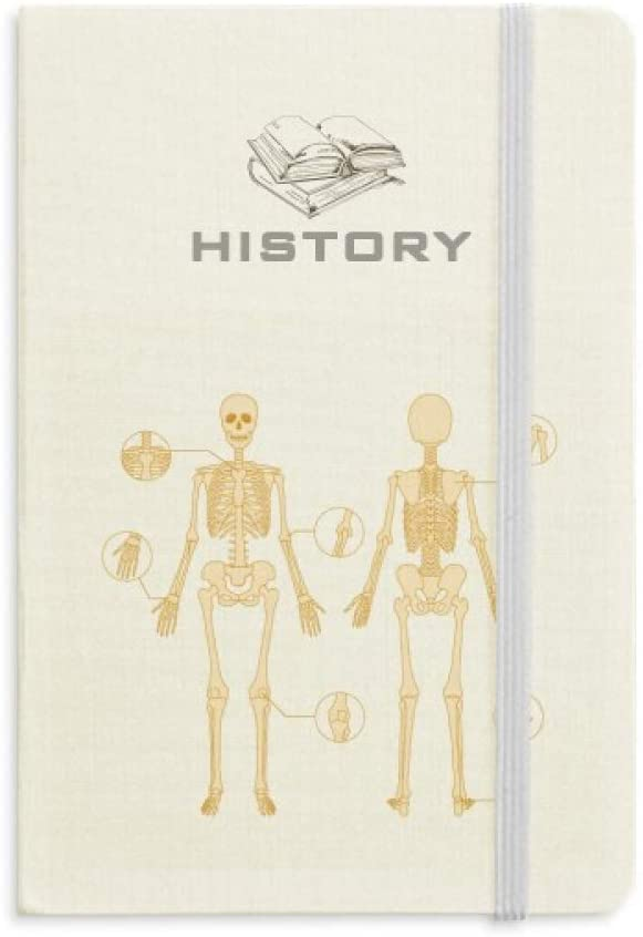 Skeleton Illustration Human Skeleton History Notebook Classic Journal Diary A5