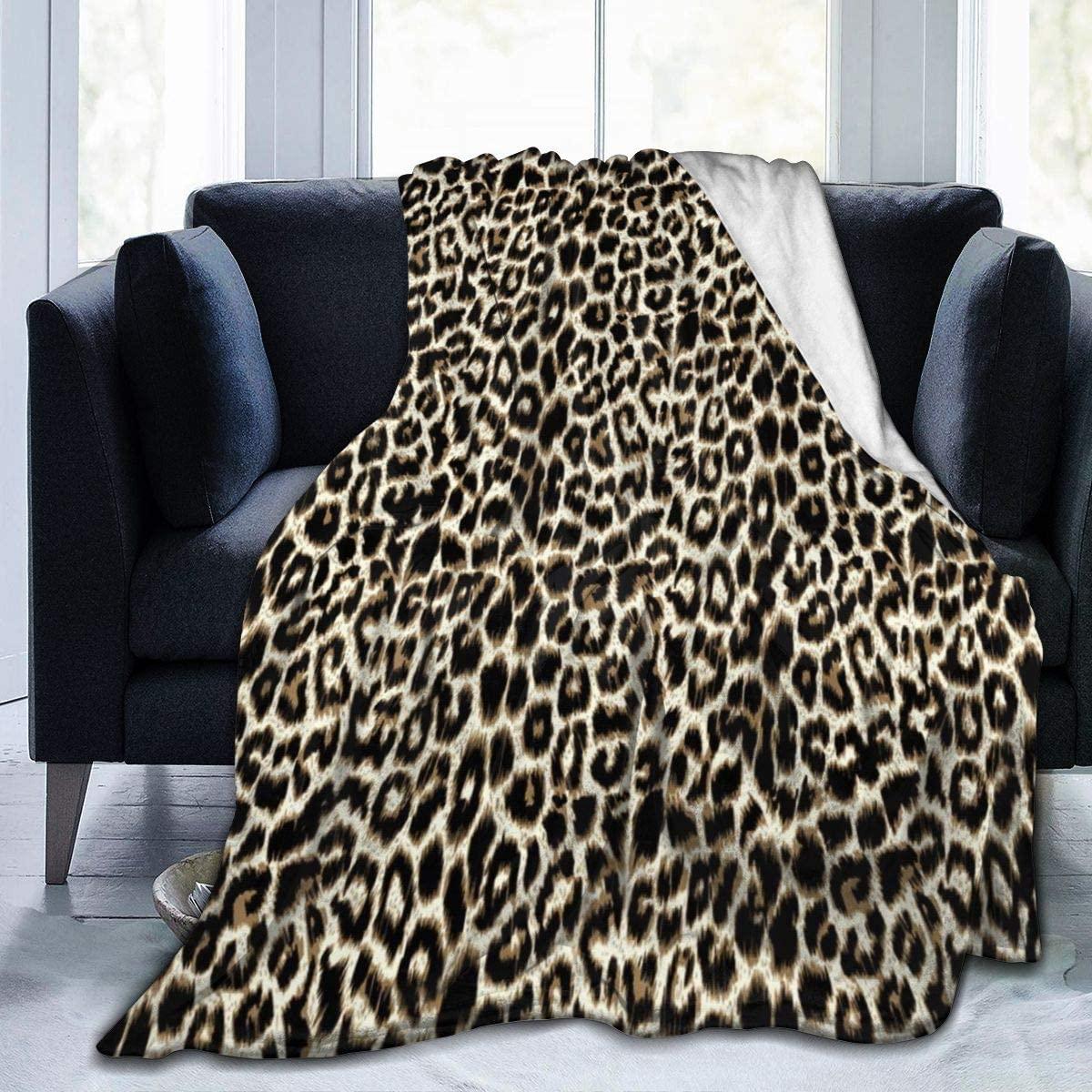 Micro Fleece Plush Soft Baby Blanket Unique Leopard Print Fluffy Warm Toddler Bed/Crib Blanket Lightweight Flannel Daycare Nap Kids Sleeping Tummy Time Throw Blanket Girls Boy Clearance Kid/Baby