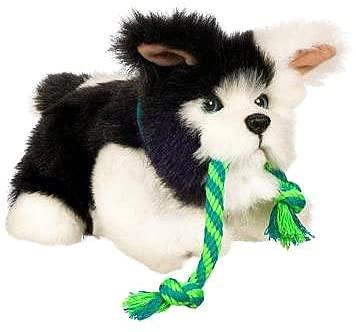 Fur Real Friends Tugging Black & White
