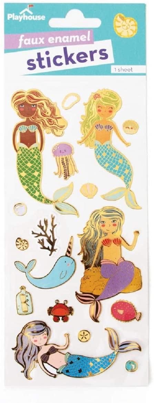 Playhouse Mermaid Friends Enamel Effect Sticker Sheet