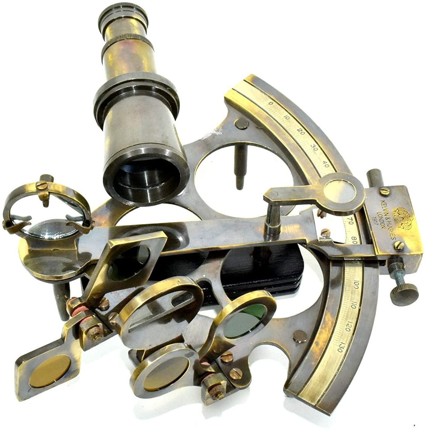 Brass Sextant Astrolabe Maritime Nautical Navy Marine Sextant Decor Vintage Ship01